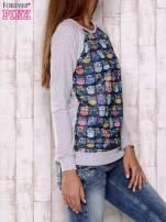 Granatowa bluza z sowami