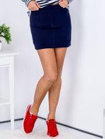 Granatowa dresowa spódnica mini                                  zdj.                                  1
