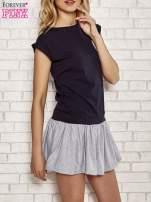 Różowa dresowa sukienka tenisowa z kieszonką                                                                          zdj.                                                                         3