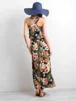 Granatowa letnia sukienka w kwiaty                                  zdj.                                  2