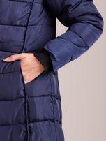 Granatowa pikowana damska kurtka zimowa                                   zdj.                                  8