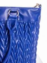Granatowa pikowana torba na ramię