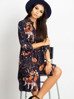 Granatowa sukienka Beverly                                  zdj.                                  1