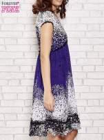 Granatowa sukienka baby doll w ciapki                                  zdj.                                  3