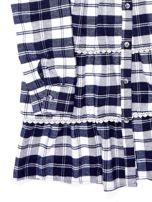 Granatowa sukienka w kratę dla dziewczynki                                  zdj.                                  9