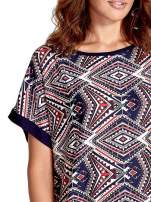 Granatowa tunika w azteckie wzory