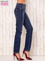 Granatowe proste spodnie jeansowe                                  zdj.                                  2