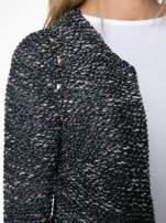Granatowy dzianinowy żakiet z dżetami i suwakami                                                                          zdj.                                                                         5