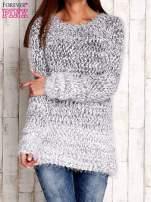 Granatowy melanżowy sweter long hair