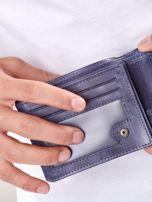 Granatowy portfel męski ze skóry naturalnej                                  zdj.                                  4