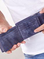 Granatowy portfel męski ze skóry naturalnej                                  zdj.                                  3