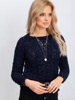 Granatowy sweter Jessica                                  zdj.                                  1