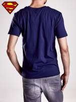 Granatowy t-shirt męski MAN OF STEEL                                  zdj.                                  4