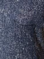 Granatowy t-shirt w srebrne plamki                                  zdj.                                  6