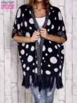 Granatowy włochaty sweter w grochy                                  zdj.                                  1