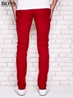 HUGO BOSS Czerwone spodnie męskie z przeszyciami                                  zdj.                                  3