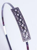 INCA Metalowa ozdobna opaska do włosów grafitowa z cyrkoniami                                   zdj.                                  1