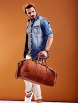 Jasnobrązowa skórzana męska torba podróżna                                  zdj.                                  9
