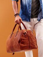 Jasnobrązowa skórzana męska torba podróżna                                  zdj.                                  10