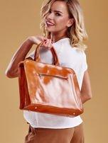 Jasnobrązowa torba damska ze skóry w miejskim stylu                                  zdj.                                  6