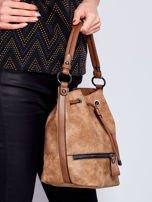 Jasnobrązowa torba z suwakami                                   zdj.                                  6
