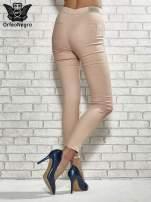 Fuksjowe spodnie rurki skinny                                                                          zdj.                                                                         4