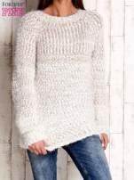 Jasnobrązowy melanżowy sweter long hair                                                                          zdj.                                                                         1