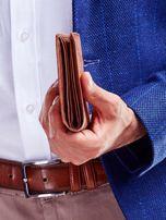 Jasnobrązowy miękki portfel męski ze skóry naturalnej                                   zdj.                                  3