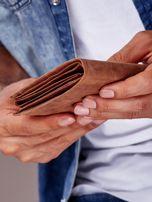 Jasnobrązowy portfel męski ze skóry zapinany na zatrzask                                  zdj.                                  7