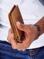 Jasnobrązowy skórzany portfel męski z przywieszką                                  zdj.                                  6