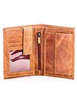 Jasnobrązowy skórzany portfel z cieniowaniem                                  zdj.                                  4