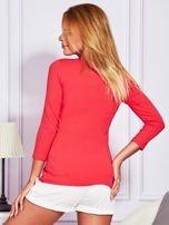 Jasnoczerwona bluzka lace up                                  zdj.                                  2