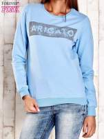 Jasnoniebieska bluza z napisem ARIGATO                                                                          zdj.                                                                         1