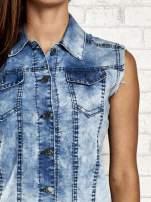 Jasnoniebieska denimowa koszula z surowym wykończeniem