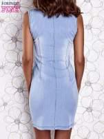 Jasnoniebieska denimowa sukienka z suwakiem                                                                          zdj.                                                                         5