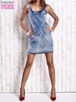Jasnoniebieska jeansowa sukienka z motywem panterki                                                                          zdj.                                                                         7