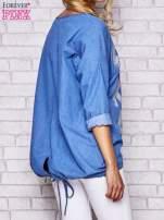 Jasnoniebieska jeansowa tunika ze sznureczkiem                                  zdj.                                  3