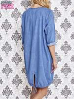 Jasnoniebieska sukienka z napisem BE HAPPY                                  zdj.                                  2