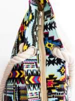 Jasnoniebieska torba plażowa w azteckie wzory                                  zdj.                                  7