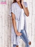 Jasnoniebieski melanżowy długi sweter                                  zdj.                                  3
