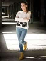 Jasnoniebieskie spodnie jeansowe z przetarciami                                  zdj.                                  11