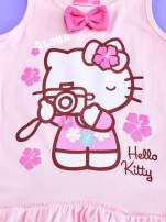 Jasnoróżowa sukienka dla dziewczynki z kokardką HELLO KITTY                                                                          zdj.                                                                         4