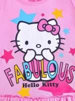 Jasnoróżowa tunika dla dziewczynki z motywem HELLO KITTY                                  zdj.                                  4