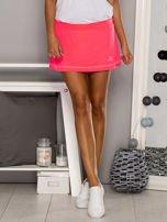 Ciemnoróżowe gładkie spodenki spódniczka tenisowa