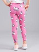 Jasnoróżowe legginsy dziewczęce z nadrukiem HELLO KITTY                                  zdj.                                  2