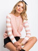 Jasnoróżowy sweter Independent                                  zdj.                                  3