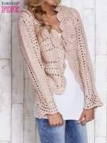 Jasnoróżowy sweter z wiązaniem                                  zdj.                                  3