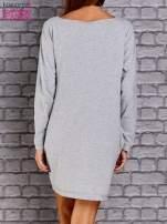 Jasnoszara sukienka oversize z kieszeniami                                  zdj.                                  4