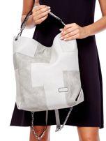 Jasnoszara torba-plecak z odpinanymi szelkami                                  zdj.                                  1