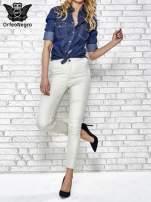 Jasnoszare spodnie rurki skinny                                  zdj.                                  2